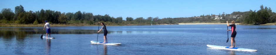 Burrill Lake SUP lessons in ideal surrounds.